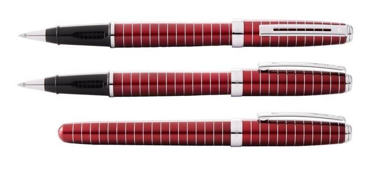 9165 RB Pióro kulkowe Sheaffer Prelude, czerwone, wykończenia chromowane