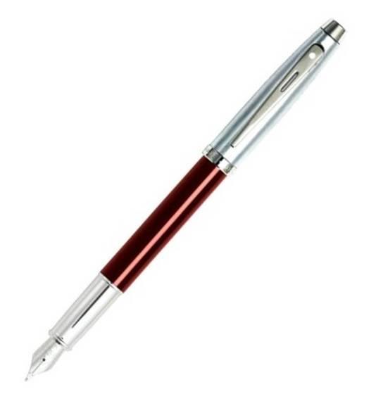 9307 PN Pióro wieczne Sheaffer kolekcja 100, czerwone, wykończenia chromowane