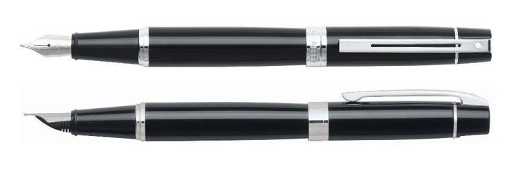 9312 PN Pióro wieczne Sheaffer kolekcja 300, czarne, wykończenia chromowane