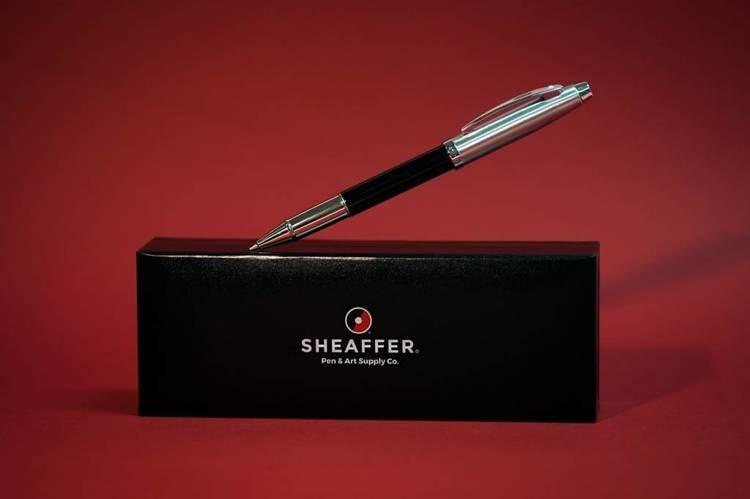 9313 RB Pióro kulkowe Sheaffer kolekcja 100, czarne, wykończenia chromowane