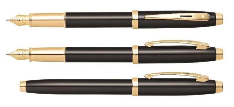 9322 PN Pióro wieczne Sheaffer kolekcja 100, czarne, wykończenia w kolorze złotym