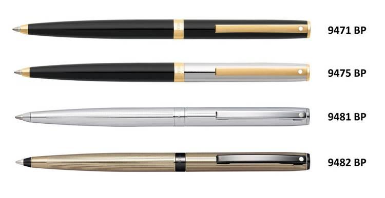 9471 BP Długopis Sheaffer kolekcja Sagaris, czarny, wykończenia w kolorze złotym