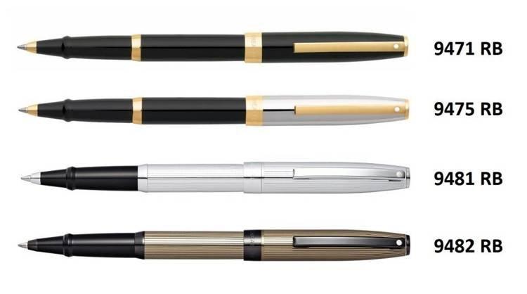 9475 RB Pióro kulkowe Sheaffer kolekcja Sagaris, czarne/chrom, wykończenia w kolorze złotym