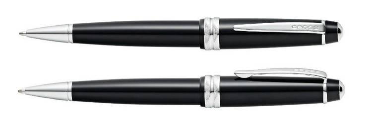 Długopis Cross Bailey Light czarny, elementy chromowane