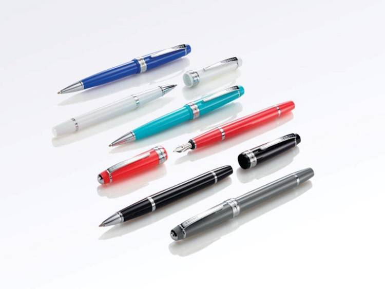 Długopis Cross Bailey Light niebieski, elementy chromowane