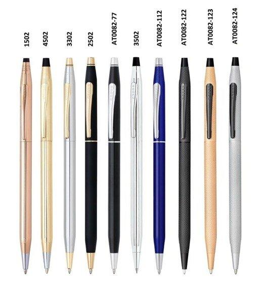 Długopis Cross Classic Century chromowane, elementy czarne