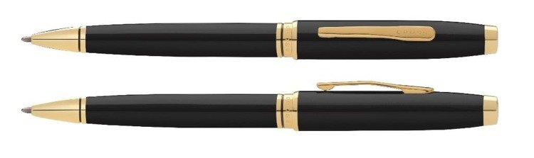 Długopis Cross Coventry czarny, elementy w kolorze złotym