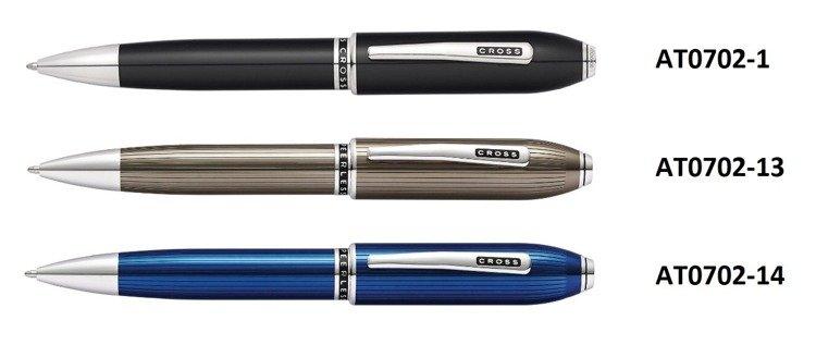 Długopis Cross Peerless czarne, elementy platerowane rodem