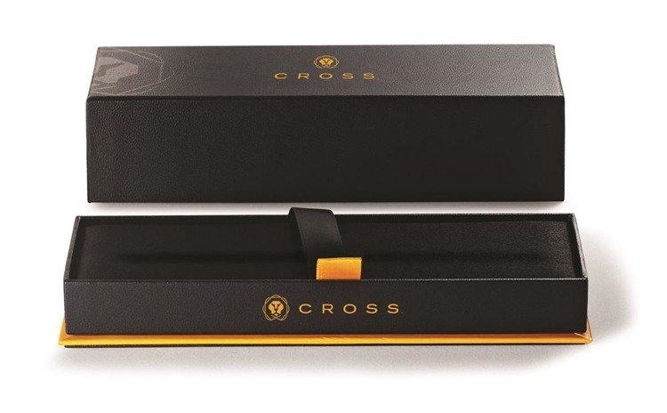 Długopis Cross Wanderlust Borneo z zielonym motywem, elementy pokryte złotem