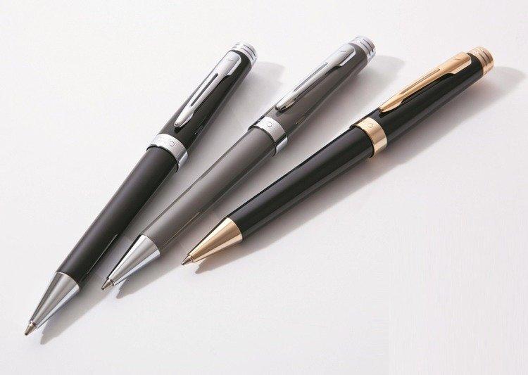 Długopis EXO Sagitta, czarny, wykończenia chromowane