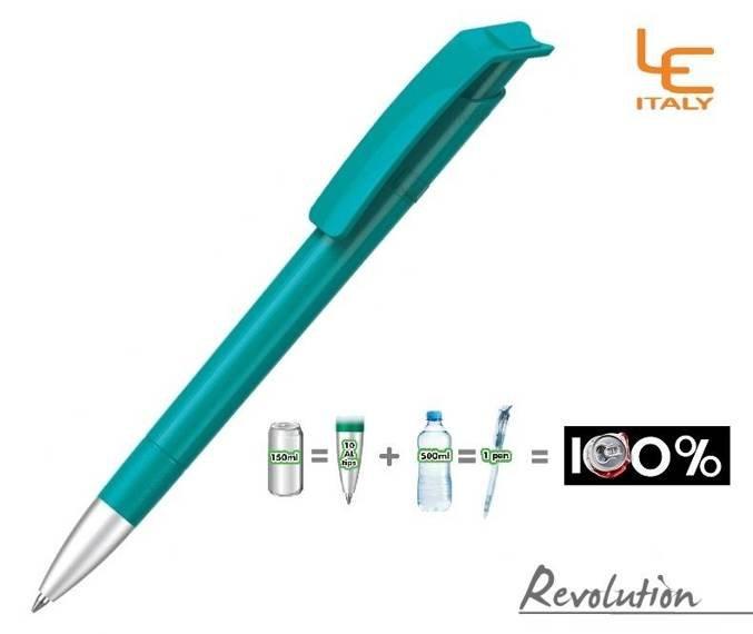 Długopis LE ITALY Revolution solid ALrPET turkusowy