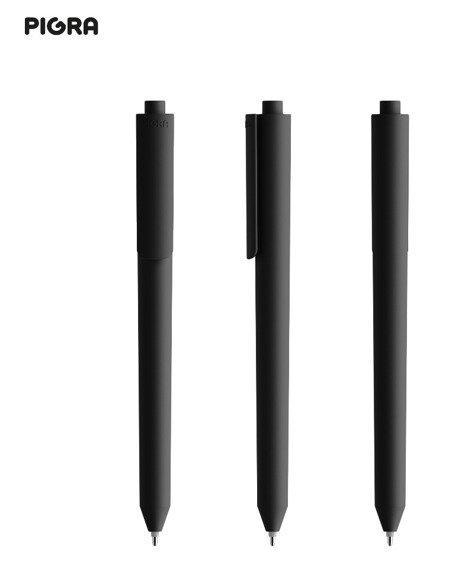 Długopis PIGRA P03, czarny z czarnym klipsem