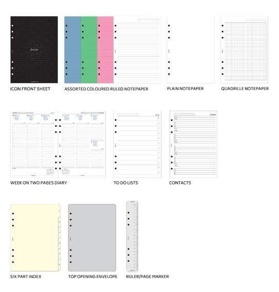 Organizer fILOFAX Domino Soft A5, jasnoniebieski