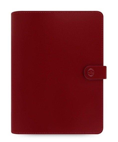 Organizer fILOFAX The ORIGINAL A5, skóra naturalna w kolorze czerwonym