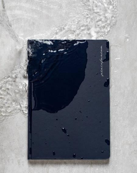 PININFARINA Segno Notebook Stone Paper, notes z kamienia, czarna okładka, gładki
