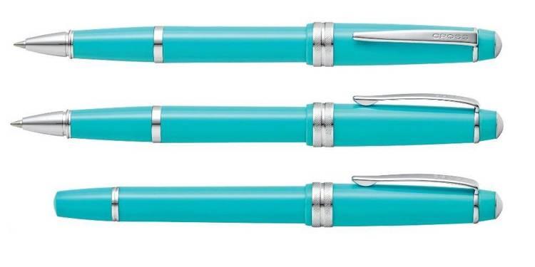 Pióro kulkowe Cross Bailey Light błękitne, elementy chromowane