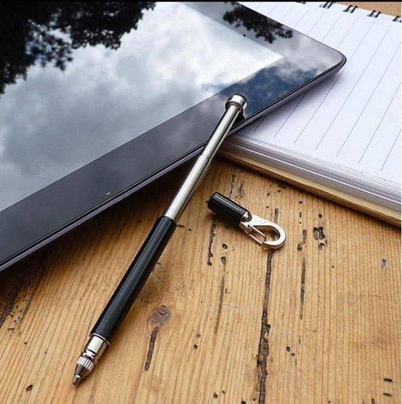 TU257B True Utility Długopis teleskopowy StylusPen, czarny
