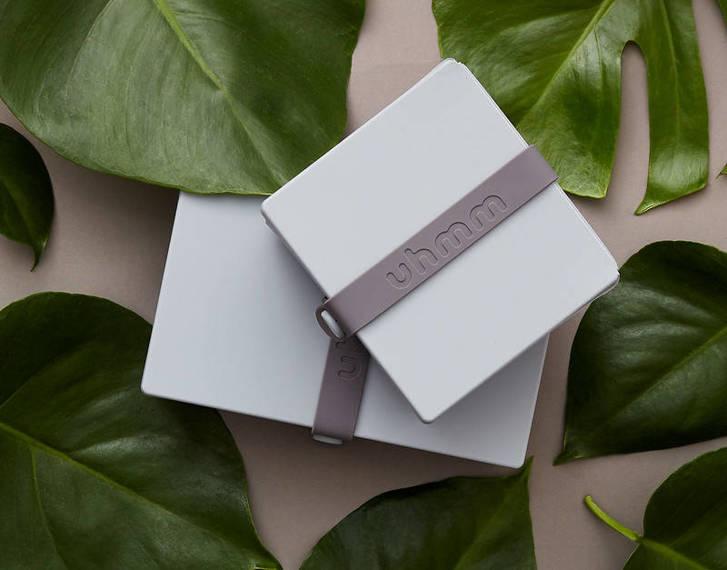 Uhmm Box 01 prostokątne pudełko na żywność, jasnoszare