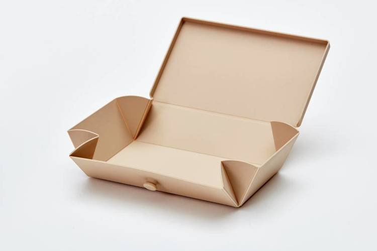Uhmm Box 01 prostokątne pudełko na żywność, jasnobrązowe
