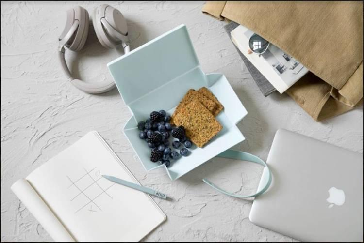Uhmm Box 02 pudełko na żywność, miętowe